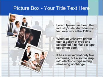 Silhouettes of business PowerPoint Template - Slide 17