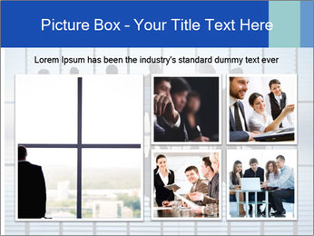 Silhouettes of business PowerPoint Template - Slide 19