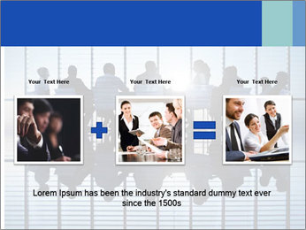 Silhouettes of business PowerPoint Template - Slide 22
