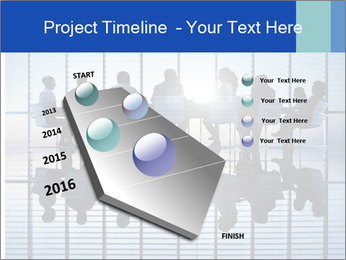 Silhouettes of business PowerPoint Template - Slide 26
