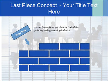Silhouettes of business PowerPoint Template - Slide 46