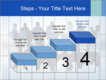 Silhouettes of business PowerPoint Template - Slide 64
