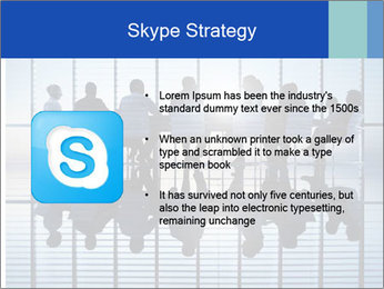 Silhouettes of business PowerPoint Template - Slide 8