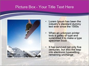 Snowboarder jumping PowerPoint Template - Slide 13