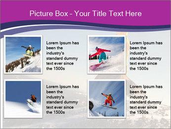 Snowboarder jumping PowerPoint Template - Slide 14