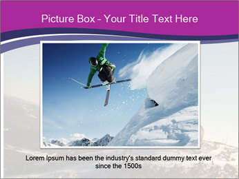 Snowboarder jumping PowerPoint Template - Slide 15
