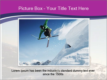 Snowboarder jumping PowerPoint Template - Slide 16