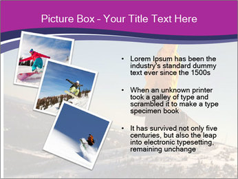 Snowboarder jumping PowerPoint Template - Slide 17