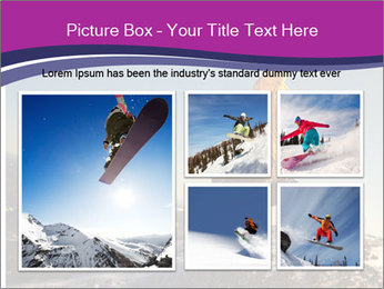 Snowboarder jumping PowerPoint Template - Slide 19