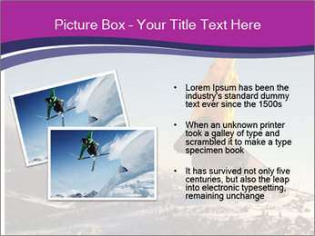 Snowboarder jumping PowerPoint Template - Slide 20