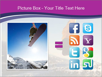 Snowboarder jumping PowerPoint Template - Slide 21