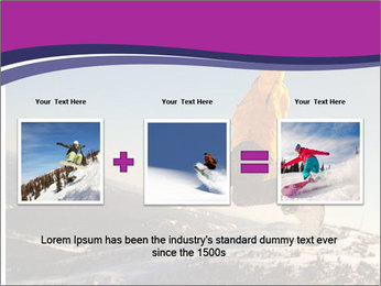 Snowboarder jumping PowerPoint Templates - Slide 22