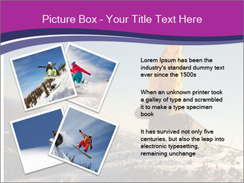 Snowboarder jumping PowerPoint Template - Slide 23