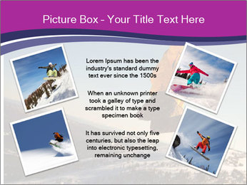 Snowboarder jumping PowerPoint Template - Slide 24