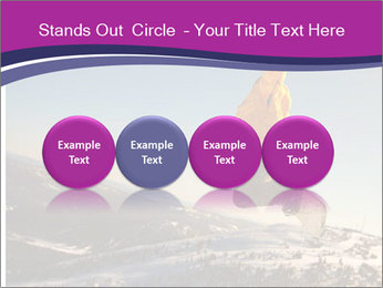Snowboarder jumping PowerPoint Templates - Slide 76