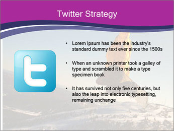 Snowboarder jumping PowerPoint Template - Slide 9