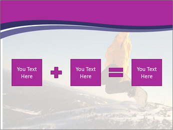Snowboarder jumping PowerPoint Template - Slide 95