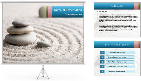 Meditation stone PowerPoint Template