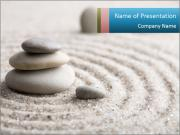 Meditation stone PowerPoint Templates