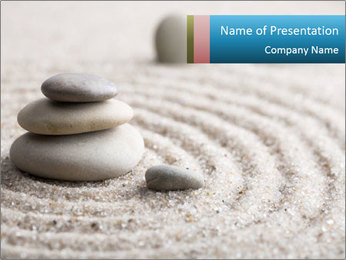 Meditation stone PowerPoint Template - Slide 1