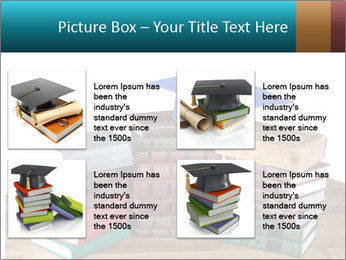 Stack of books PowerPoint Template - Slide 14