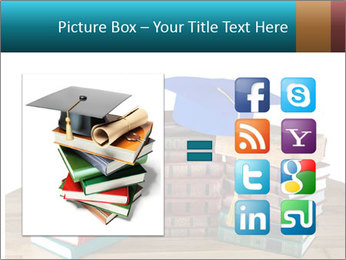 Stack of books PowerPoint Template - Slide 21