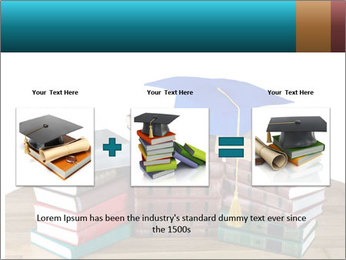 Stack of books PowerPoint Template - Slide 22
