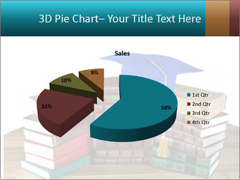 Stack of books PowerPoint Template - Slide 35