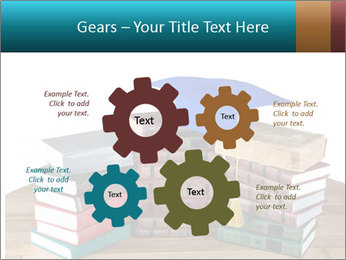 Stack of books PowerPoint Template - Slide 47