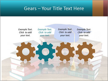 Stack of books PowerPoint Template - Slide 48