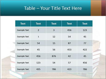 Stack of books PowerPoint Template - Slide 55