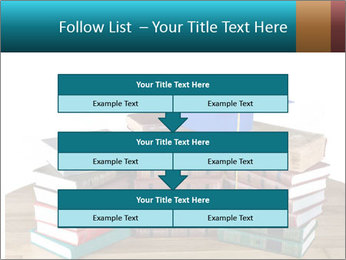 Stack of books PowerPoint Template - Slide 60