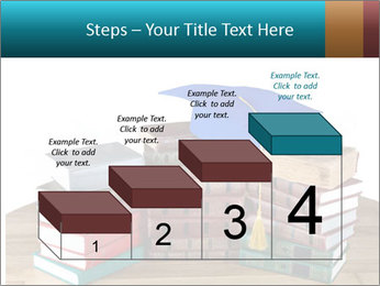 Stack of books PowerPoint Template - Slide 64