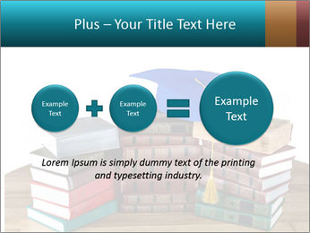 Stack of books PowerPoint Template - Slide 75