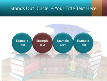 Stack of books PowerPoint Template - Slide 76