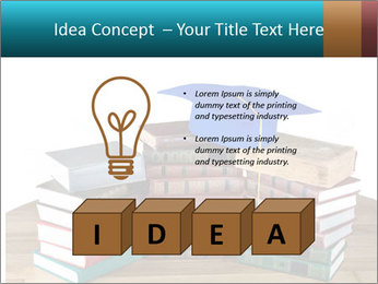 Stack of books PowerPoint Template - Slide 80