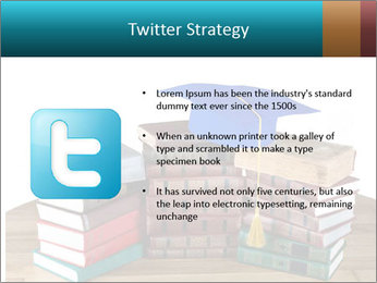 Stack of books PowerPoint Template - Slide 9
