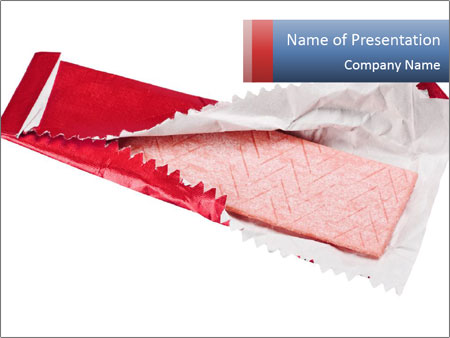 Chewing gum PowerPoint Template