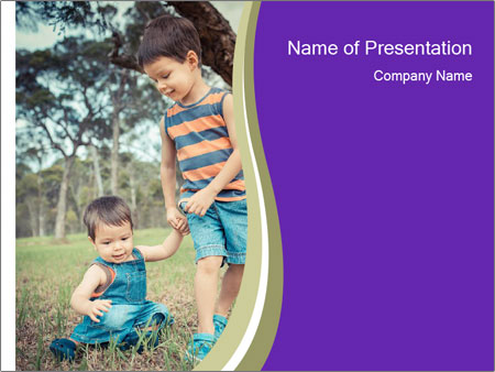Two mixed race PowerPoint Templates