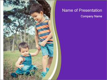 Two mixed race PowerPoint Template