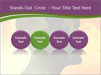 Human head PowerPoint Templates - Slide 76