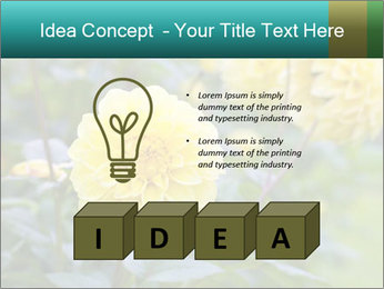 Yellow flower PowerPoint Template - Slide 80