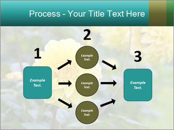 Yellow flower PowerPoint Template - Slide 92