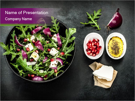Fresh spring salad PowerPoint Templates