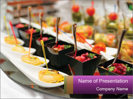 Various snacks PowerPoint Template