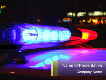Police lights PowerPoint Template - Slide 1
