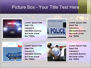 Police lights PowerPoint Template - Slide 14
