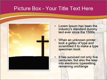Crosses on a hill PowerPoint Templates - Slide 13