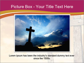 Crosses on a hill PowerPoint Templates - Slide 15