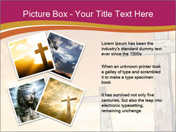 Crosses on a hill PowerPoint Templates - Slide 23